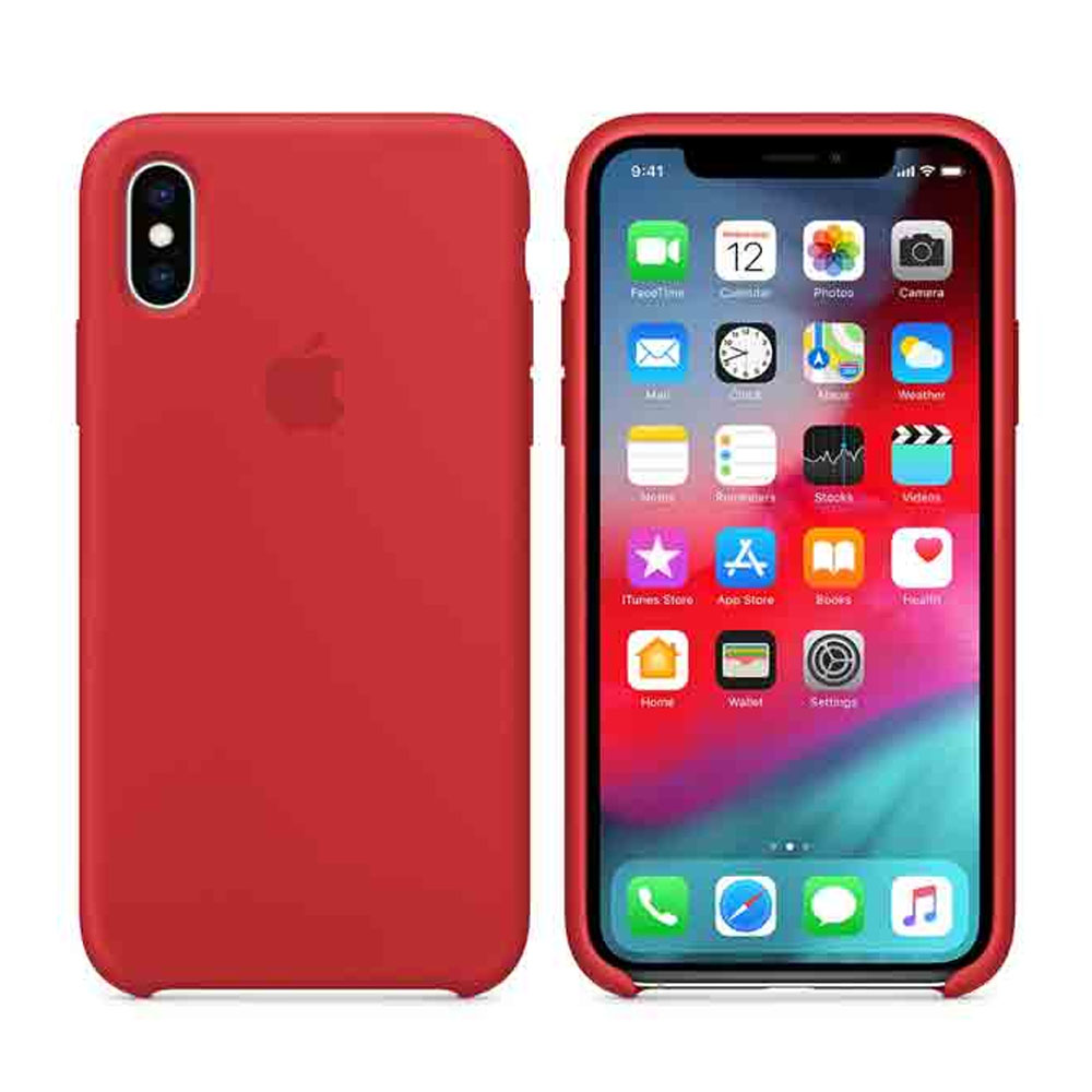 Чехол IPhone XS Silicon Case MRWC2ZM/A Red